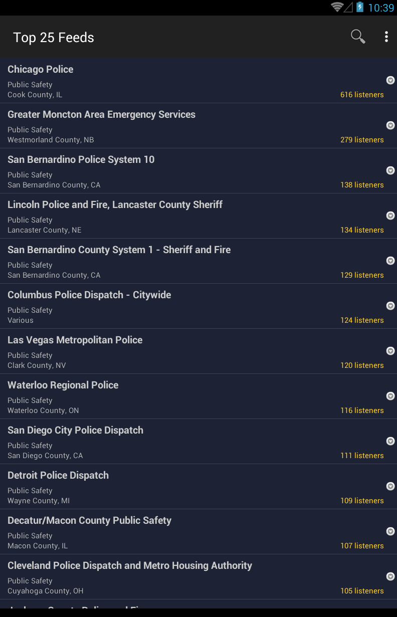 Broadcastify Police Scanner Pro Screenshot 7