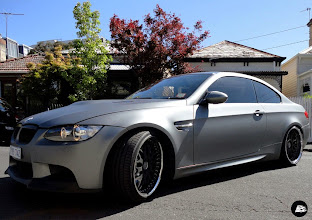 Photo: Matte Grey Metallic full vehicle wrap on a BMW M3 Coupe for Sports Car Rental Australia to be used as a promotional vehicle and because Andy likes to trick up his fleet of cars. #Avery #mattegreymetallic #customfinishes #fullvehiclewrap