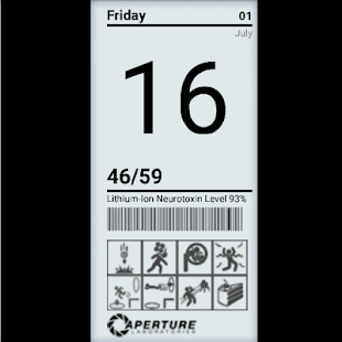 Aperture Science Clock Widget screenshot
