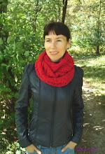 Photo: женский вязаный шарф-снуд-хомут Пурпур