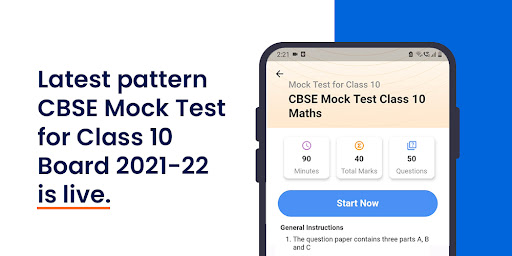 Latest Pattern updated CBSE Mock Test for Class 10