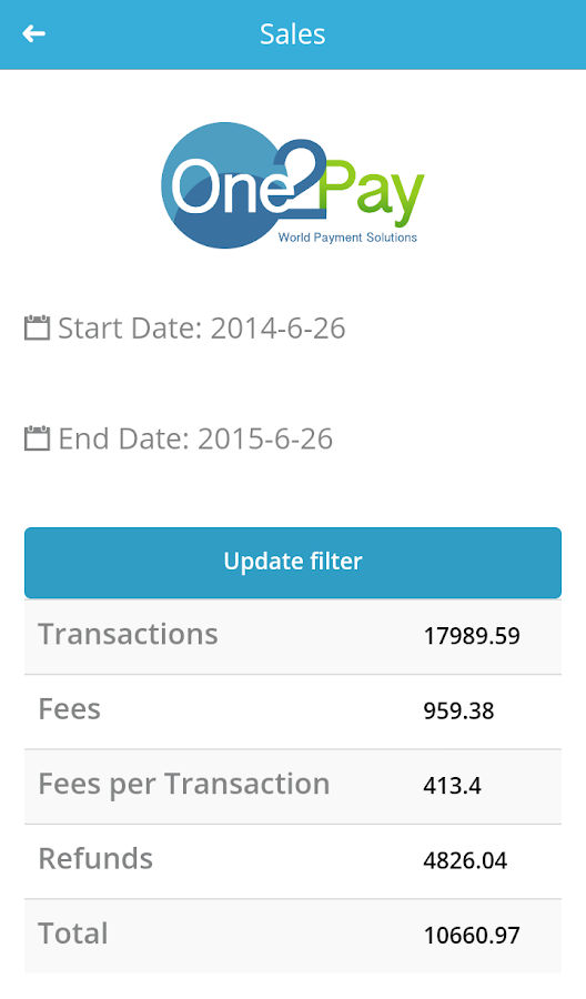 One2Pay- screenshot