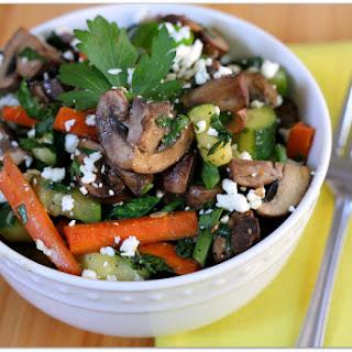 Mushroom, Zucchini and Carrot Saute