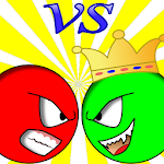 Red Ball vs Green King Icon