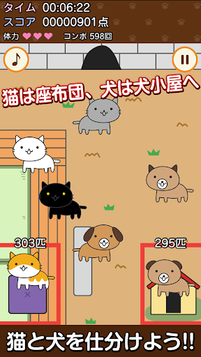 cat and dog sorting game