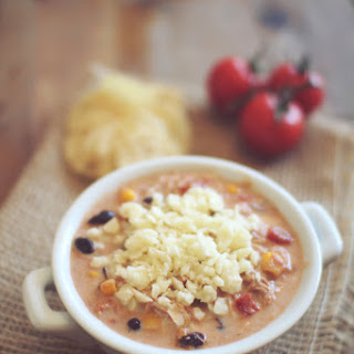 Creamy Chicken Enchilada Soup.