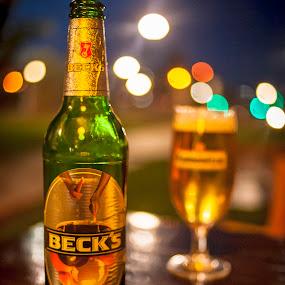 Beer by Stoyan Katinov - Food & Drink Alcohol & Drinks ( beer, background, glass, becks, nice )