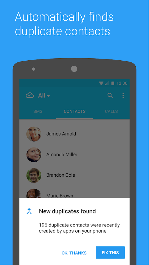 Contacts +- screenshot