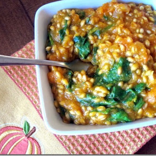 Butternut Squash Wheatberry Mock Risotto
