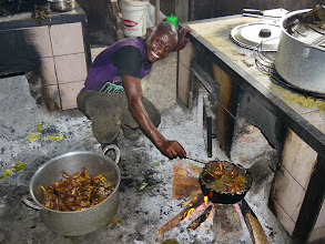 Photo: Cooking chicken for special guests