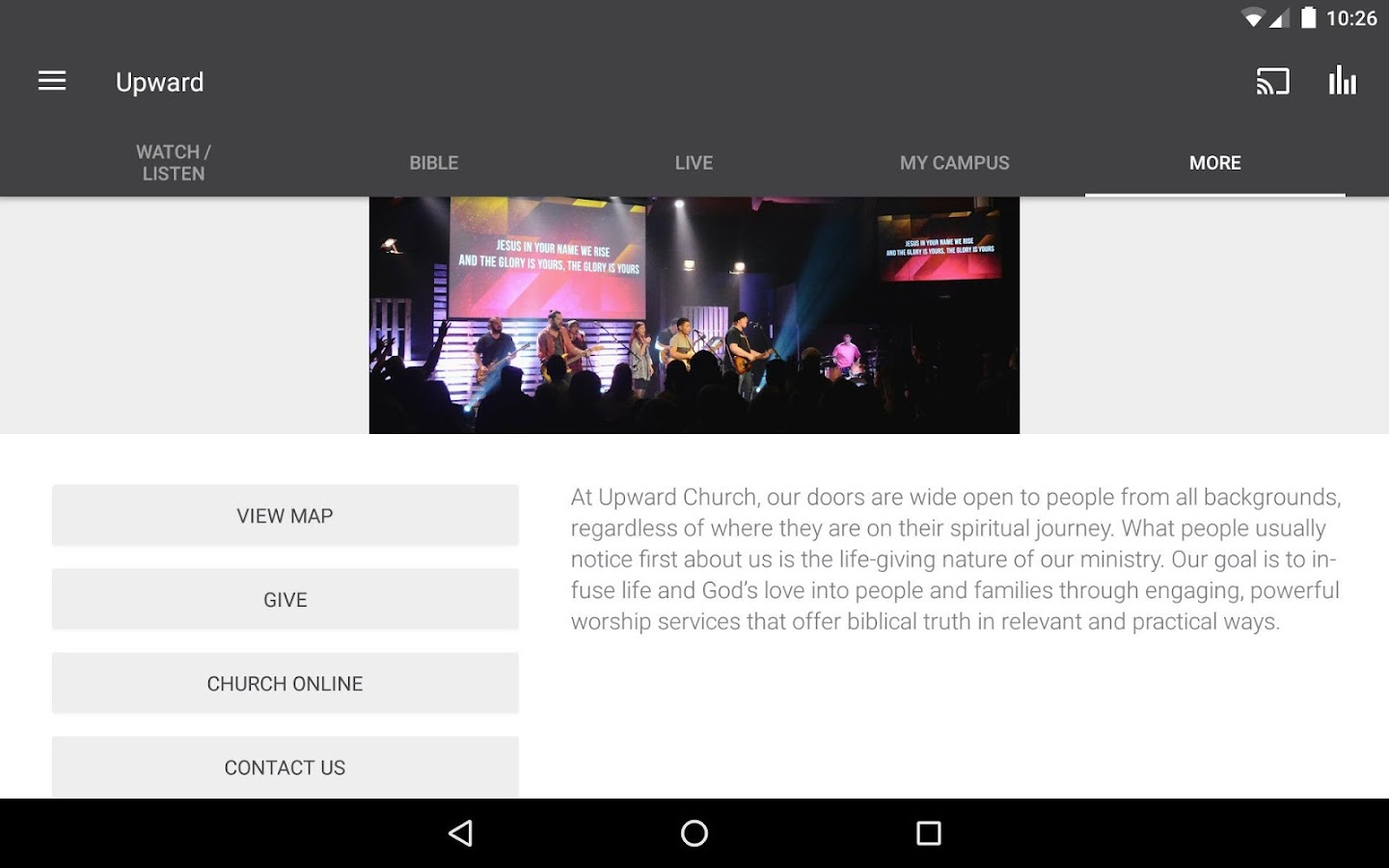 Upward Church Mobile- screenshot