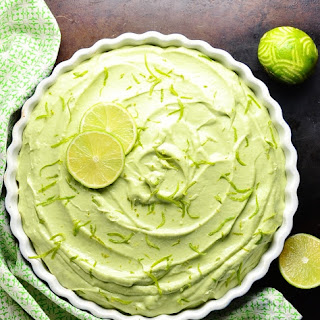 Key Lime Cheesecake Pie with Avocado.