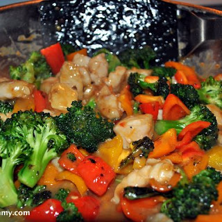 Cod and Pepper Stir Fry with Orange Sauce