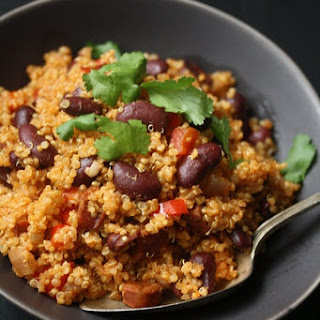 Spanish Quinoa Pilaf with Chorizo and Kidney Beans.