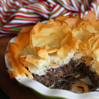 Spiced Meat Phyllo Pie (Tourtière)