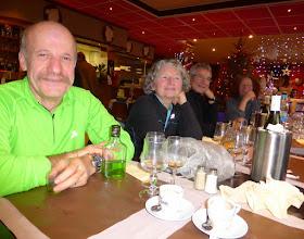 Photo: Bernard, Danielle, Christian et Gisèle au Jardin napolitain à Jouy.