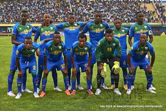 Photo: Starting Squad [Rwanda vs Morocco, CHAN - Group A, 24 Jan 2016 in Kigali, Rwanda.  Photo © Darren McKinstry 2016, www.XtraTimeSports.net]
