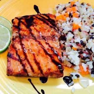 Grilled Salmon With Hoisin Sauce.