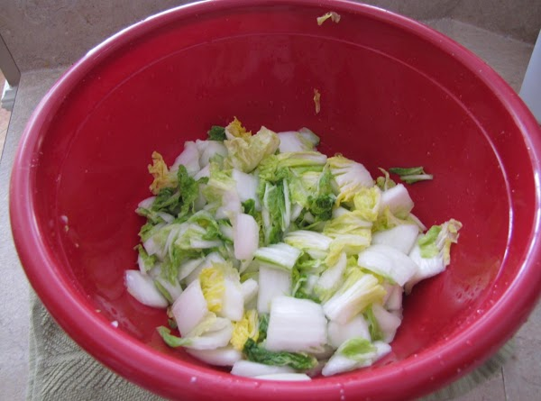 Place the lettuce in a big salad container and add about 1/2 cup of...
