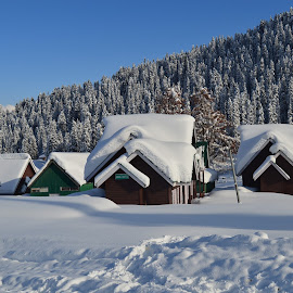 Snow at gulmarg  by Muneer Parray - Public Holidays New Year's Eve ( gulmarg )