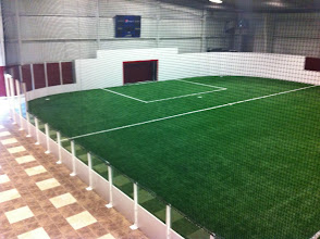 Photo: The second indoor soccer field at the XL Soccer World's new facility in Maine.