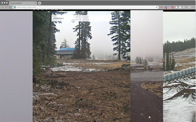 Mt. Bachelor webcam new tab page