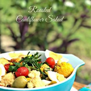 Roasted Cauliflower Salad #SundaySupper Recipe