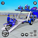 Police Bike Transport Truck icon