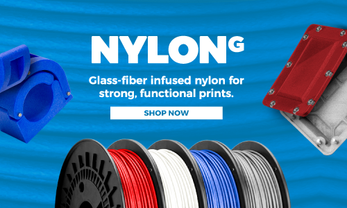 Glass-fiber infused nylon for strong, functional prints