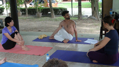 Photo: Daniel teaching Ardhamatsyendrasana!