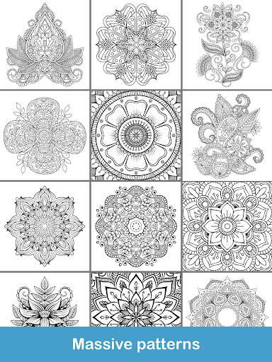 100+ Mandala coloring pages  screenshots 23
