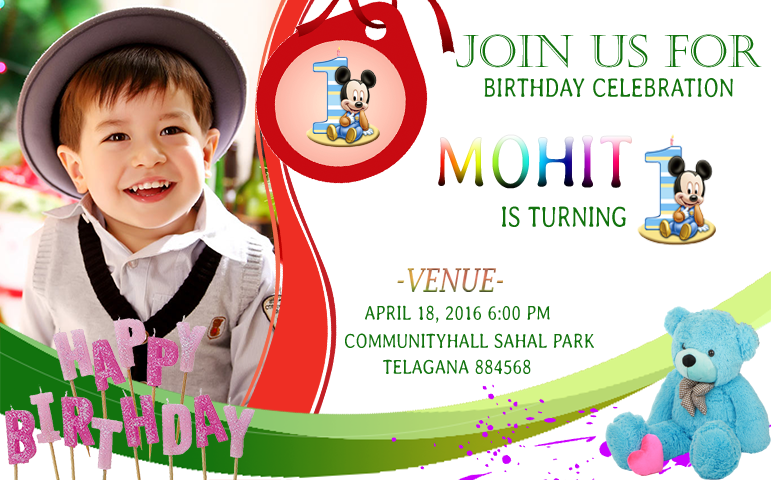Birthday Invitation Card Lands Android Apps On Google Play - Happy birthday invitation card design
