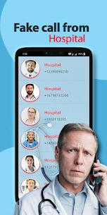 Fake call from hospital 1.0 Mod APK (Unlock All) 2