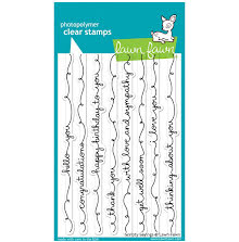 Lawn Fawn Clear Stamps 4X6 - Scripty Sayings