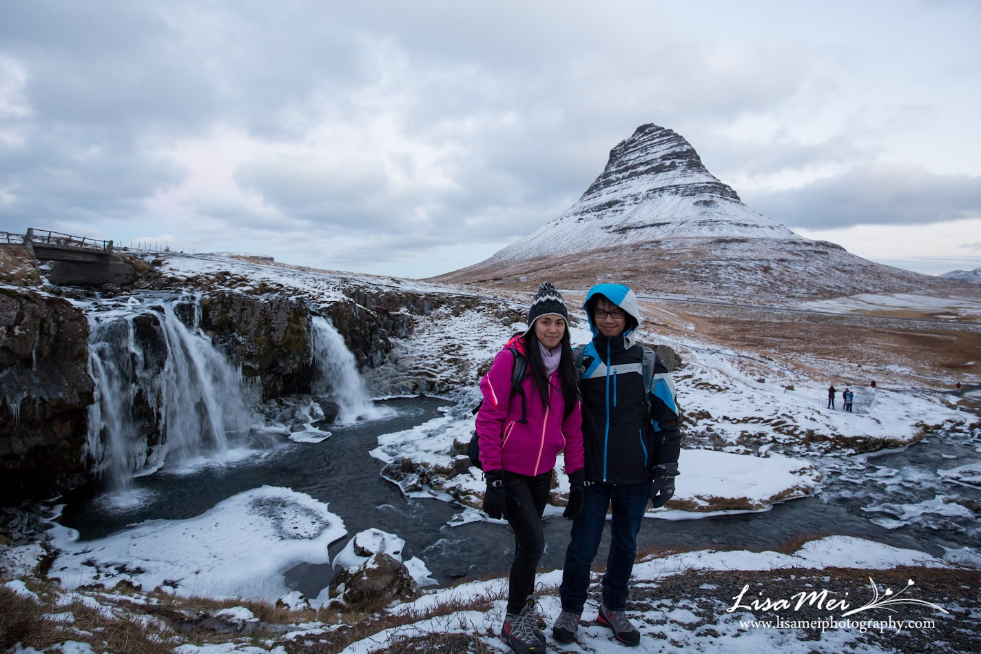 We arrived at 4:30 am and drove straight to Kirkjufellsfoss for sunrise at 10 am.