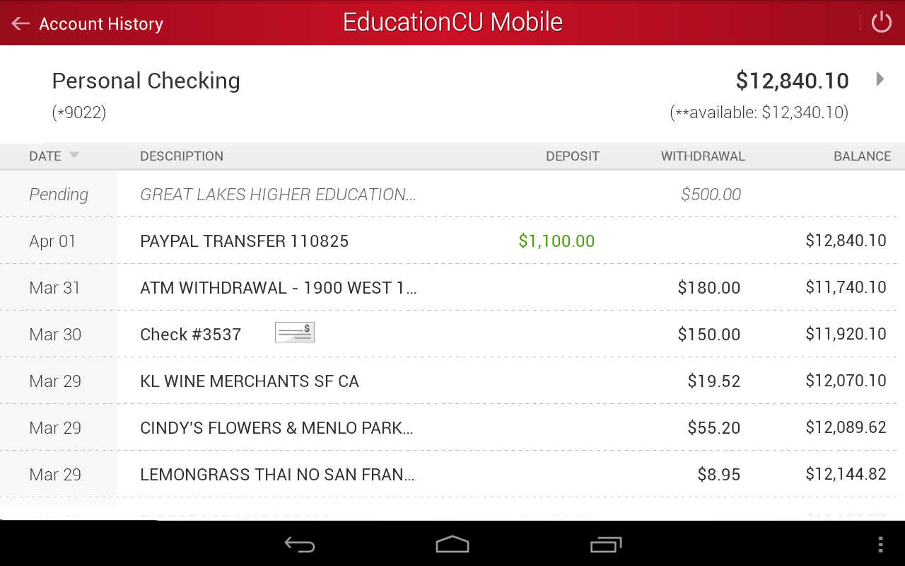 EducationCU Mobile- screenshot