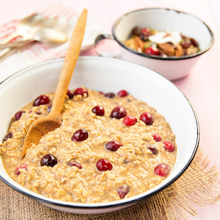 Cranberry Apple Spice Overnight Oatmeal