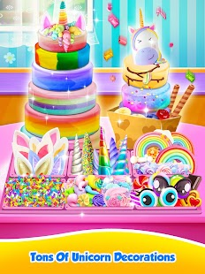Unicorn Food Sweet Rainbow Cake Desserts Bakery