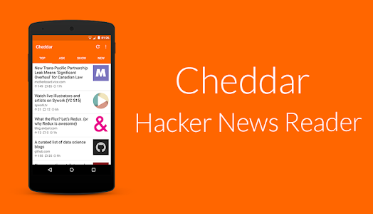 Cheddar for Hacker News screenshot 4