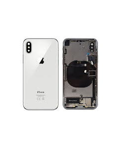 iPhone X Housing with small parts Original Pulled Silver