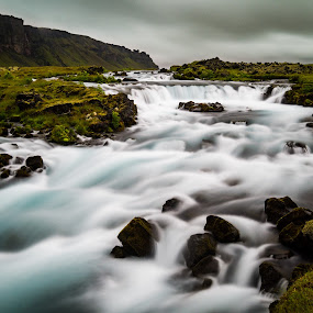 Silky Smooth Waterfalls by Justin Hyder - Landscapes Waterscapes ( forest, blur, scenic, long, summer, beautiful, view, white, stream, waterfall, dynamic, day, flow, smooth, green, motion, natural, nature, cascade, recreation, tree, iceland, segmented, water, flowing, stone, outdoor, exposure, background, river, fresh, travel, splash, landscape,  )