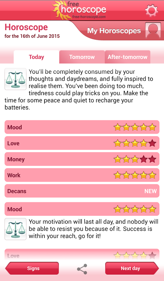 Free Horoscope- screenshot