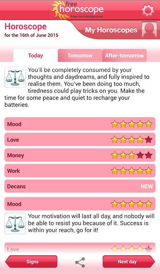 Free Horoscope - screenshot