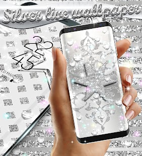 Silver live wallpaper - náhled