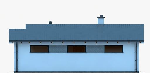 G250 - Budynek rekreacji indywidualnej - Elewacja tylna