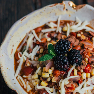 Blackberry Beef Chili