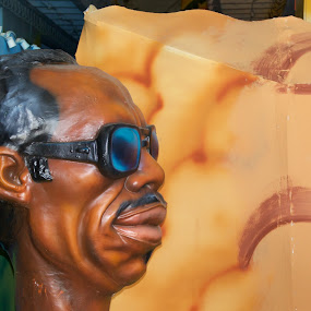 New Orleans Shine by Alice Gipson - Artistic Objects Other Objects ( new orleans, black man with sunglasses mannequin, parade float, parade float mannequin, alicegipsonphotographs, new orleans parade float mannequin )
