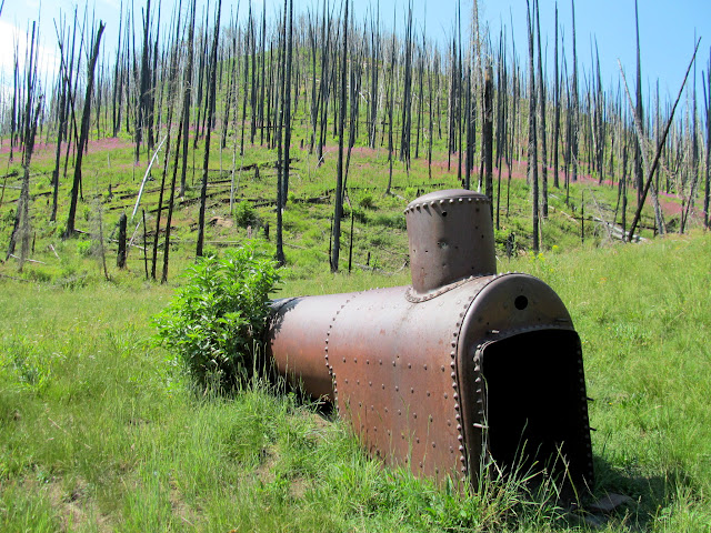 Steam boiler in Sawmill Canyon