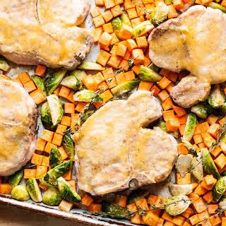 Honey-Mustard Sheet Pan Pork Chops.