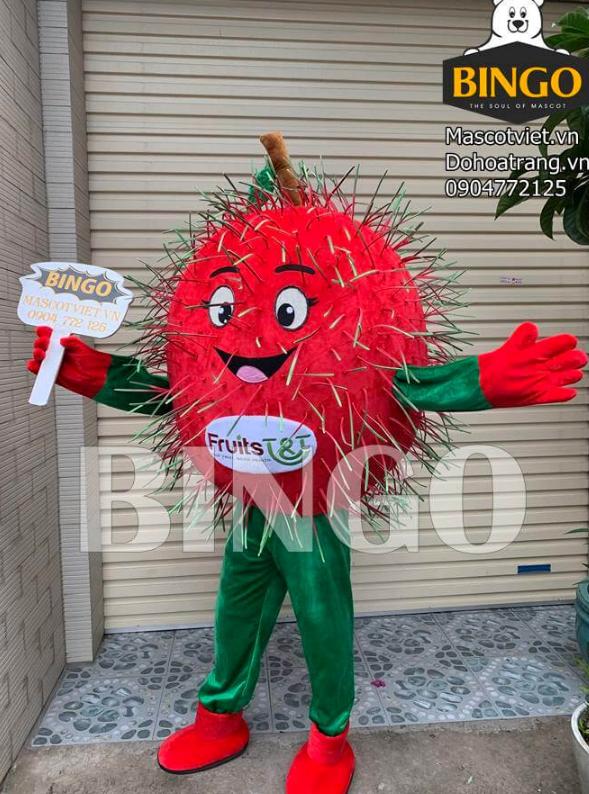 Mascot trái Chôm Chôm